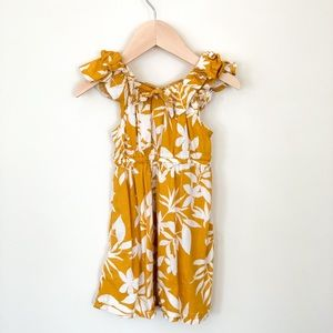 Old Navy | 2T Baby Girl Dress Yellow/Ivory summer